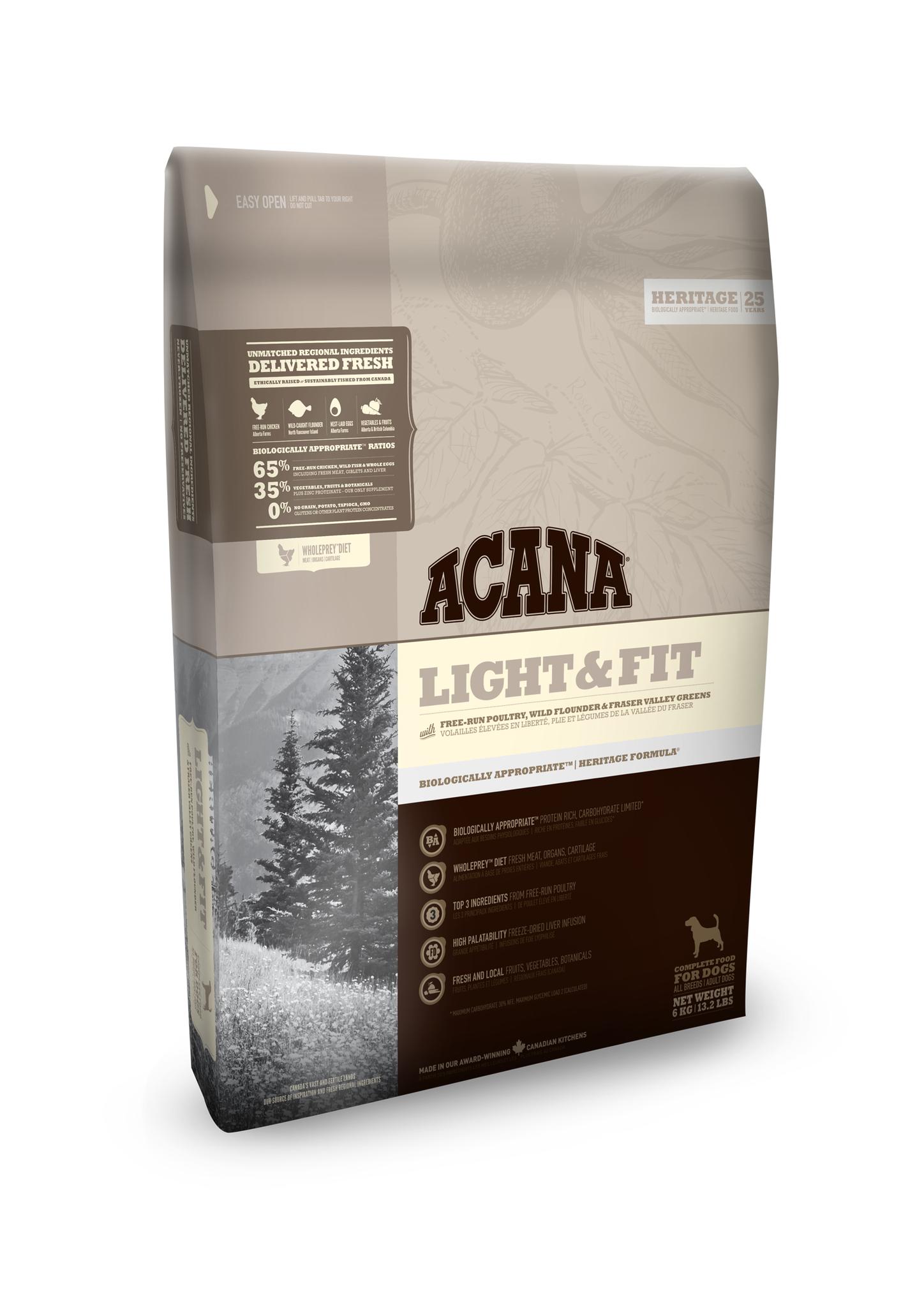 Billede af Acana light & fit Heritage 11,4 kg