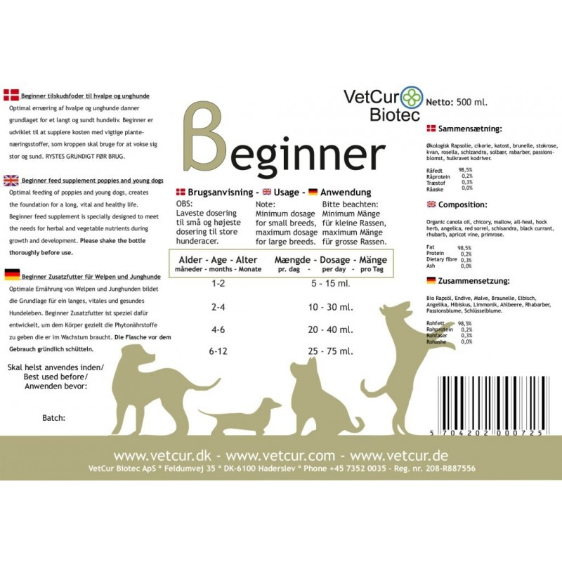 Beginner olietilskud 500 ml-31