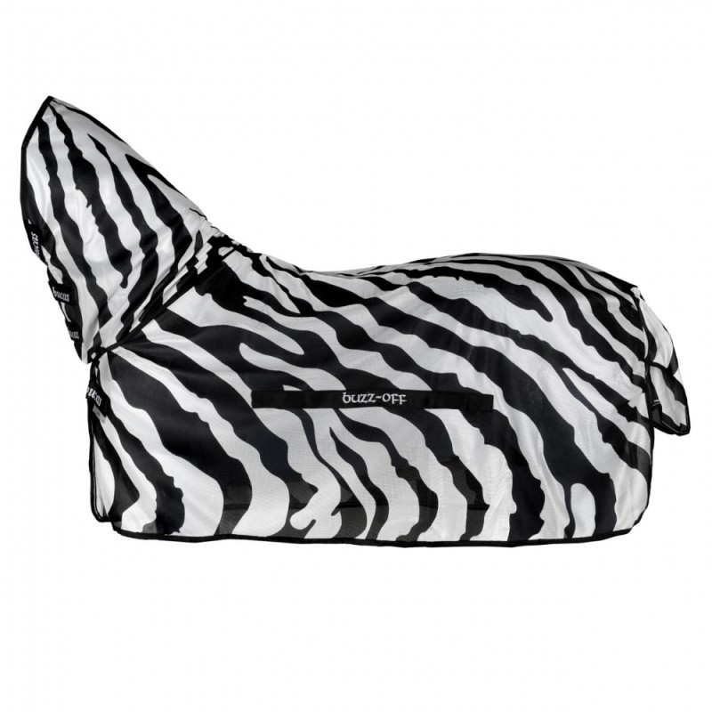 Bucas Buzz-Off Full Neck zebra-33