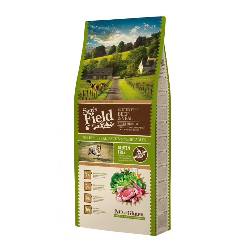 Sam´s Field Adult Medium Beef and Veal 13 kg-31