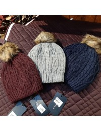 Cabel knit hat-20
